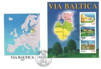Estland 1995 - FDC - LAPE nr. Bl. 8