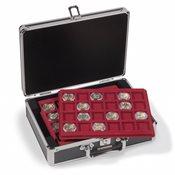 CARGO S6 Møntkuffert til 120 mønter/kapsler - Op til 41 mm - Sort/sølv