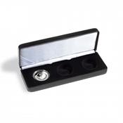 Écrin NOBILE pour 3 pièces allemandes de 10 euros « Air se déplace » en capsules, noir