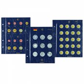 VISTA coin sheets for German 10-euro collection coins with polymer ring, pack of 2