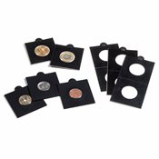 MATRIX coin holders, black, inside Ø 35 mm, self-adhesive, pack of 100