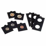 Etuis carton MATRIX, noir, diamètre intérieur 37,5  mm, autocollants, paquet de 100