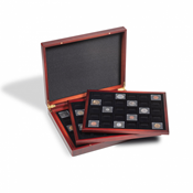 Coffret numismatique VOLTERRA TRIO pour 3x 30 capsules QUADRUM Mini, 38 x 38 mm, noir
