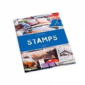 Classeur STAMPS A4, 16 pages noires, couverture non ouatinée et colorée (banderole)