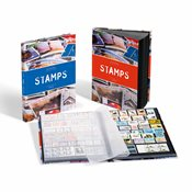 Classeur STAMPS A4, 32 pages noires, couverture non ouatinée et colorée (banderole)