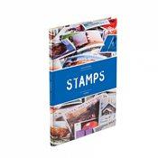 Classeur STAMPS A5, 16 pages noires, couverture non ouatinée et colorée (banderole)