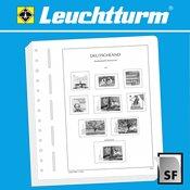 LEUCHTTURM Feuilles d'album neutres pour timbres de distributeur type autocollant, RFA