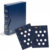 Album VISTA p. pièces de collection allemandes de 10   avec anneau en polymère, avec étui