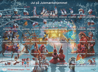 Denmark - Christmas Seals 2019 - Mint sheet with gum and perforation
