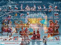 Denmark - Christmas Seals 2019 - Mint sheet, adhesive