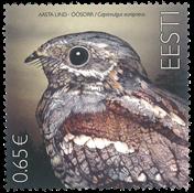 Estonie - Oiseau « Caprimulgus E. » - Timbre neuf