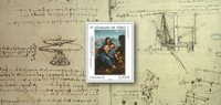 France - Leonardo da Vinci - Mint souvenir sheet in folder