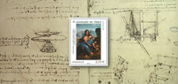 Frankrig - Leonard de Vinci - Postfrisk miniark i folder