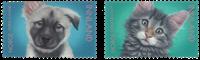 Norge - Kæledyr - Postfrisk sæt 2v