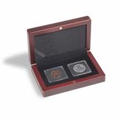Ecrin numismatique VOLTERRA pour 2 capsules QUADRUM Mini, noir