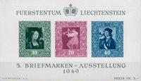 Liechtenstein 1949 - Michel  BL-5 - Postfrisk