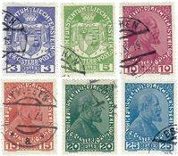 Liechtenstein 1917 - Michel  4-9 - Oblitéré