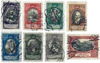 Liechtenstein 1921 - Michel  53-60 - Oblitéré