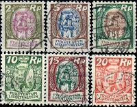 Liechtenstein 1924 - Michel  65-70 - Stemplet