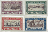 Liechtenstein 1928 - Michel  78-81 - Postfrisk