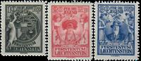 Liechtenstein 1932 - Michel  116-118 - Ubrugt