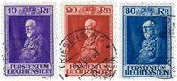 Liechtenstein 1933 - Michel  122-124 - Stemplet