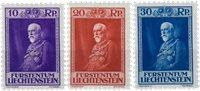 Liechtenstein 1933 - Michel  122-124 - Ubrugt