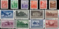 Liechtenstein 1934 - Michel  126-139 - Ubrugt