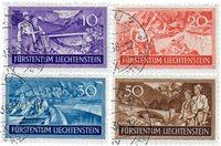 Liechtenstein 1937 - MICHEL  152-155 - Stemplet