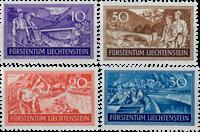 Liechtenstein 1937 - Michel  152-155 - Ubrugt