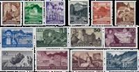 Liechtenstein 1937 - Michel  156-169 - Ubrugt
