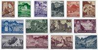 Liechtenstein 1937 - MICHEL  156-169 - Postfrisk
