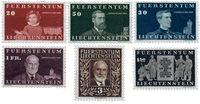 Liechtenstein 1940 - Michel  186-191 - Ubrugt