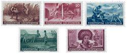 Liechtenstein 1941 - Michel  192-196 - Neuf