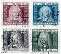 Liechtenstein 1941 - Michel  198-201 - Stemplet