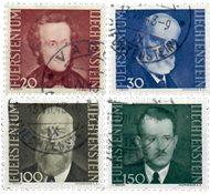 Liechtenstein 1943 - Michel  214-217 - Stemplet