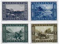 Liechtenstein 1943 - Michel  218-221 - Postfrisk