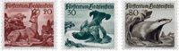 Liechtenstein 1950 - Michel  285-287 - Ubrugt