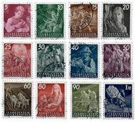 Liechtenstein 1951 - Michel  289-300 - Oblitéré