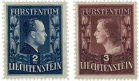 Liechtenstein 1951 - Michel  304B-305B - Ubrugt
