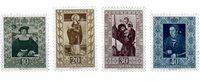 Liechtenstein 1953 - Michel  311-314 - Ubrugt