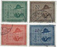 Liechtenstein 1953 - Michel  315-318 - Oblitéré