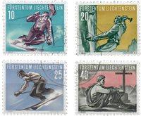 Liechtenstein 1955 - Michel  334-337 - Stemplet