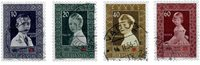 Liechtenstein 1955 - Michel  338-341 - Oblitéré