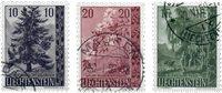 Liechtenstein 1957 - Michel  357-359 - Oblitéré