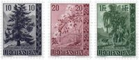 Liechtenstein 1957 - Michel  357-359 - Ubrugt