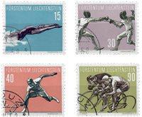 Liechtenstein 1958 - Michel  365-368 - Oblitéré