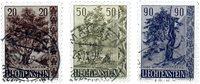 Liechtenstein 1958 - Michel  371-373 - Stemplet
