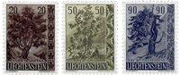Liechtenstein 1958 - Michel  371-373 - Ubrugt