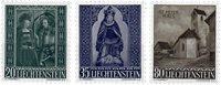 Liechtenstein 1958 - Michel  374-376 - Ubrugt